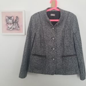 Gelco Button-down Jacket Grey Wool Tweed NWT